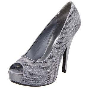 Chinese Laundry Hey There Silver platform pumps 8